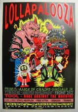 TAZ LOLLAPALOOZA SILKSCREEN CONCERT POSTER S/N TOOL PRIMUS ALICE IN CHAINS