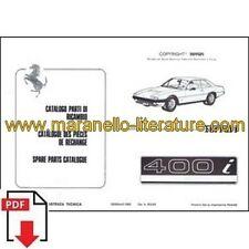 1983 Ferrari 400i spare parts catalogue 253/83 PDF (it/fr/uk)