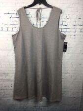 NWT MIK Black/White Striped Sleeveless Casual Dress Womens Plus 20W $78