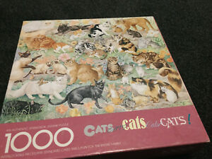 CATS JIGSAW PUZZLE / 1000 Piece / COMPLETE / Extra Pieces / SPRINGBOK / QUALITY