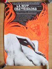 belle affiche théâtre érotique nuit des tribades Jacques Richez 1978