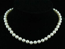 White Shell Pearl Necklace use Swarovski Crystal SN111