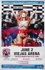 """LADY GAGA """"ARTPOP BALL TOUR 2014"""" SAN DIEGO CONCERT POSTER- Dance,Pop,Rock Music"""