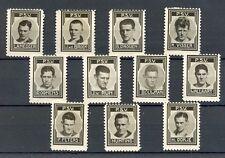 NEDERLAND 1937 ca  11 x  FOTO STAMPS  P.S.V.  VOETBAL  THICK PAPER VNL PRACHT
