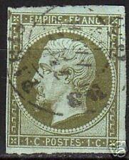 France 1853 YV 11 large margins CANC VF