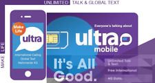 Ultra Mobile Monthly Plan $45 Refill (Direct Load to Phone) 1-24 hours