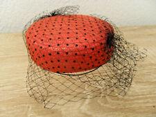 Chapeau BIBI à voilette paille tressée vintage
