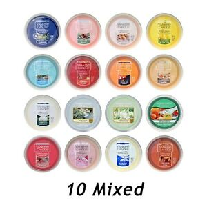10 Mixed Yankee Candle Scenterpiece Fragranced Easy MeltCup
