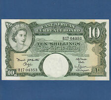 OSTAFRIKA / British EAST AFRICA 10 Shillings  (1961)  VF+  P.42 a