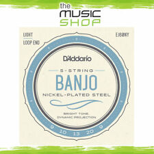 D'Addario 5-String Banjo Strings - Nickel - Light 9-20 - EJ60NY