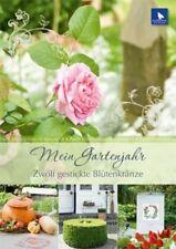 Mein Gartenjahr Zwölf gestickte Blütenkränze acufactum ute menze