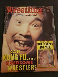 💥1️⃣9️⃣7️⃣4️⃣ Wrestling Monthly Magazine April The Sheik NWA vintage rare WWF