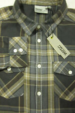 NWT $90 WESC Sweden Keiko Gray Flannel Cotton Girls Womans Top M