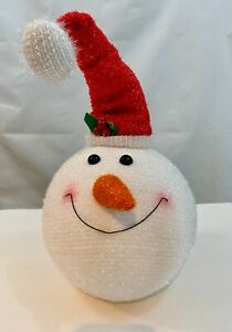 Snowman Tree Topper Happy Red