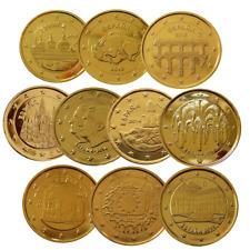 +++ 2 Euro - Spanien - 24 Karat vergoldet - viele verschiedene Varianten +++