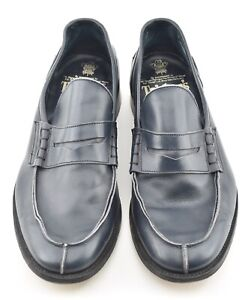 TRICKERS 8.5UK / 9.5 US UNLINED NAVY PENNY LOAFER DRESS SHOES