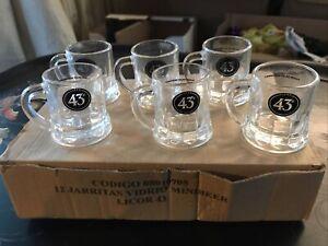 6 Spanish LICOR 43 ~ Mini Beer Mugs 2 Oz. / SHOT GLASSES / Collectibles NIB