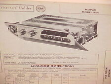 1958 PLYMOUTH BELVEDERE CONVERTIBLE FURY SAVOY PLAZA AM RADIO SERVICE MANUAL 2