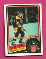 1984-85 OPC # 327 CANUCKS CAM NEELY ROOKIE VG  CARD (INV# C8098)