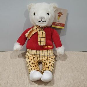 NEW Rupert The Bear Rare Soft Toy Plush teddy p5