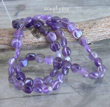 6mm Coin Amethyst Gemstone Beads Strand Crown Chakra 63B New Arrivals