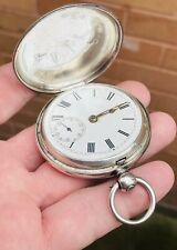 Hunter Fusee Pocket Watch, London 1878 A Gents Working Antique Solid Silver Full