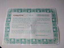ROLEX OYSTER PERPETUAL 67180 Certificate Garantie Warranty GUARANTEE GARANZIA