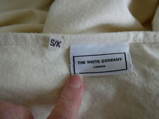 Vintage The White Company Superking 100% Cotton Flannelett Flat Sheet Cream