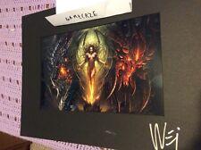 Blizzard Blizzcon 2010 Charity Dinner Art Signed Wei Kerrigan Diablo Deathwing