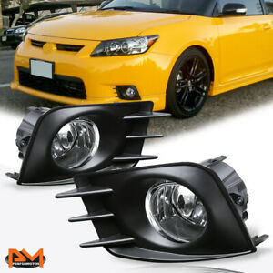 For 11-13 Scion tC Clear Lens Front Bumper Driving Fog Light/Lamp+Switch Pair
