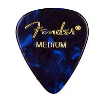 Genuine Fender® 351 Premium Picks, 12 pack, Blue Moto Medium 198-0351-802