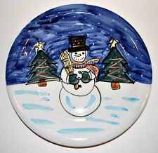 Tabletops Unlimited Holiday Season Snowman Dinner Plate