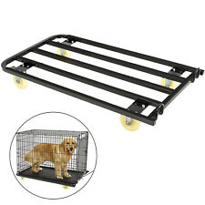 Dog Crate Dolly, Pet Crate Dolly, 42.5x23.6x7 Inches, for Dog Shows, Matte Black