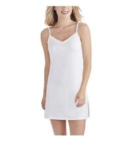 Vanity Fair Women's Spinslip 10186 White Size XL