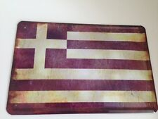 Metal Sign Country Flag National Flag Greece Greece 20x30 cm Deco 14
