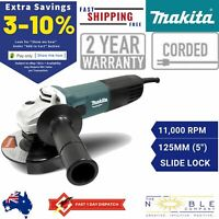 Makita Angle Grinder 125mm 5 Inch 240V Corded Grinding Power Tool Concrete Metal