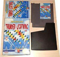 Thunder & Lightning Nintendo NES Vintage original retro game Complete in Box CIB
