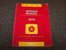 1997 Dodge Neon Sedan Shop Service Repair Manual Highline Competition 2.0L