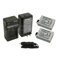 2 x LP-E8 Battery + Charger for Canon Rebel T2 T3i T2i Kiss X5 X4 EOS 550D 600D