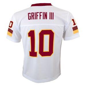 Robert Griffin iii NFL Washington Redskins Mid Tier White Jersey Youth (S-XL)