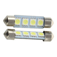 2 White 4 SMD LED Festoon Interior Dome Bulb Light 42mm A7H1