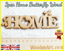 3pcs Home Letter Buttefly Wooden Letter MDF Scrapbooking Wood Word Embellishment
