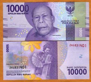 Indonesia, 10000 Rupiah, 2016 / 2019, P-157, Redesigned, UNC