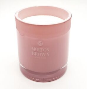 MOLTON BROWN Delicious Rhubarb and Rose Three Wick Candle 480g Damaged Box #1712