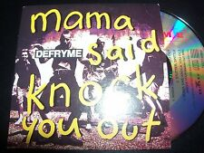 DefRyme / Def Rhyme Mama Said Knock You Out Rare Australian Card Sleeve CD Singl