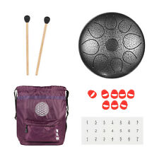 Wuyou 8inch Real Carbon Steel Tongue Drum, 8 note with carrying bag and mallet