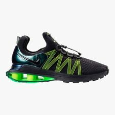 NIB NIKE Mens 12 SHOX GRAVITY AR1999 003 BLACK GREEN RUNNING LIFESTYLE SHOES