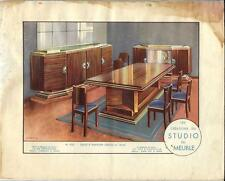 Stampa antica MOBILI Sala da pranzo Georges Arou 1933 Antique Print FURNITURE
