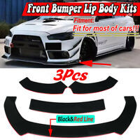 Front Bumper Lip Spoiler Splitter For Mitsubishi Lancer Outlander Eclipse Evo