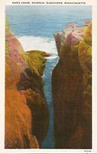 Postcard MA Massachusetts Gloucester Magnolia Rafes Chasm Essex County 40s MINT